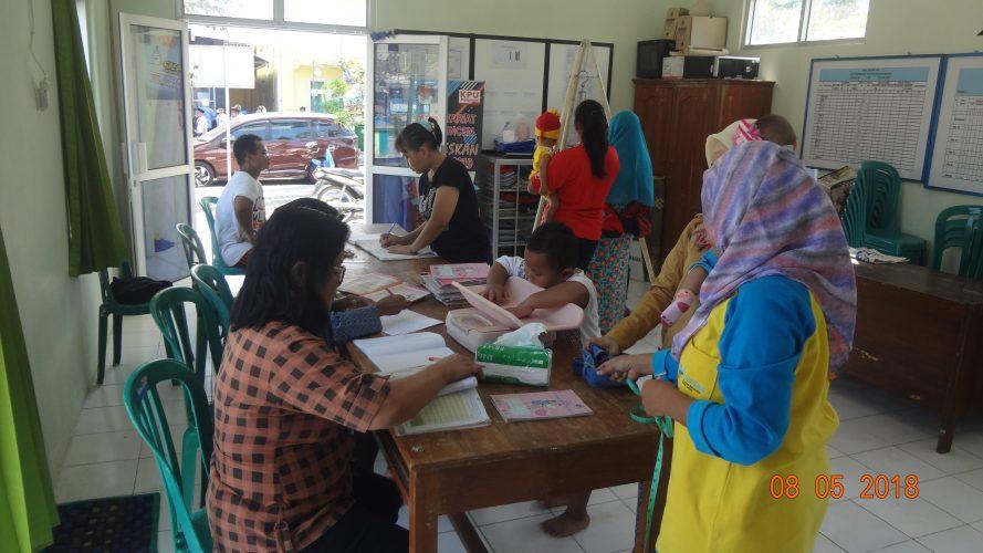 kegiatan Pos Yandu Balita Kelurahan Kuncen 8 Mei 2018