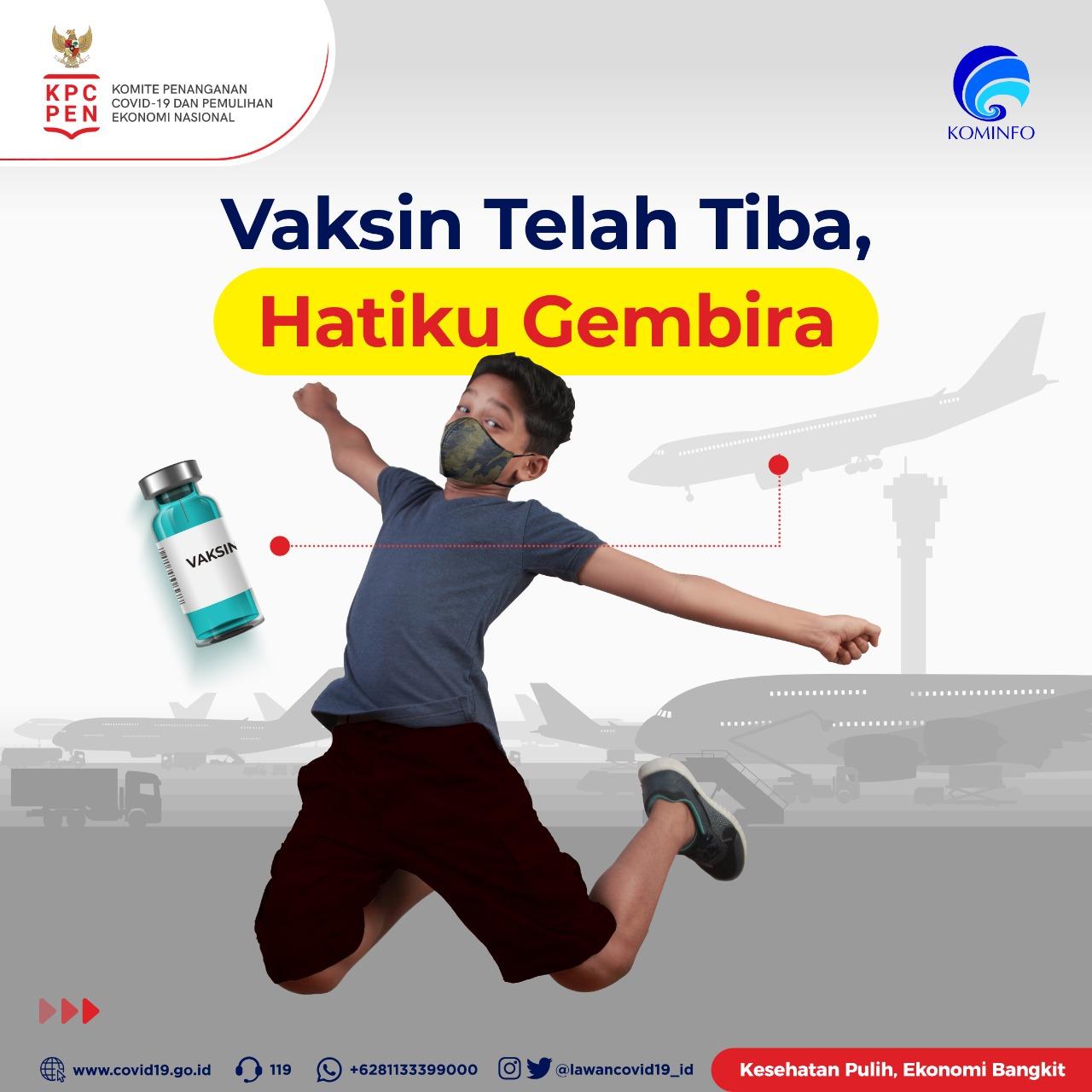 Vaksin Covid-19 telah tiba di Indonesia